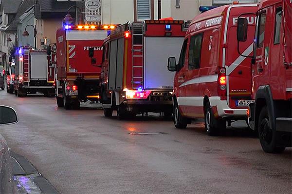 Brand im Seniorenheim in Dernbach