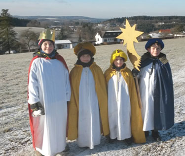 Sternsinger in Brunken unterwegs