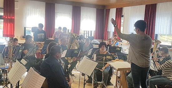 Intensive Konzertvorbereitung beim Musikverein Brunken