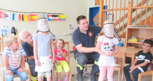 Brandschutzerziehung in der Kindertagsst�tte Fluterschen