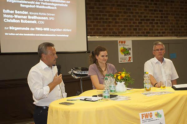 Drei Bürgermeisterkandidaten stellten sich den Fragen