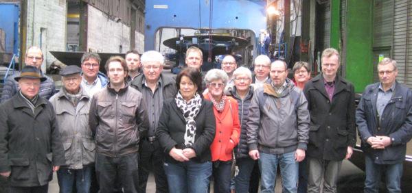 CDU Daaden und Herdorf zu Gast beim Bödenpresswerk