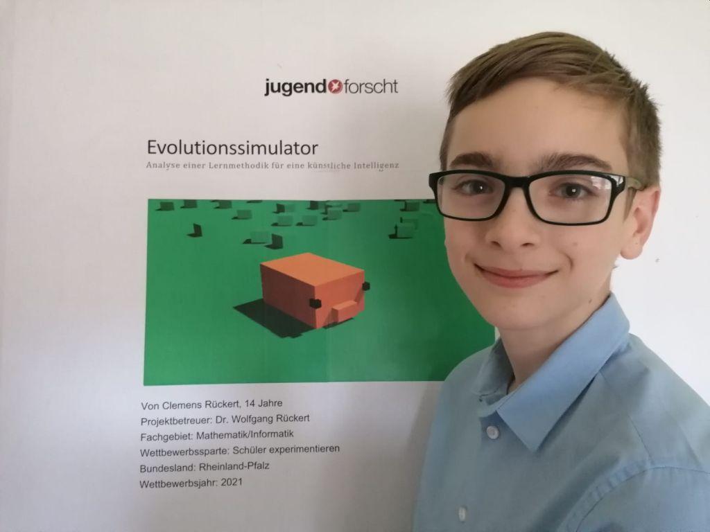Schüler Clemens Rückert aus Montabaur auf Landesebene erfolgreich