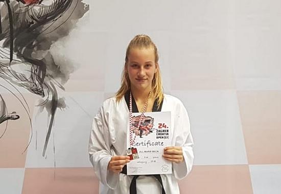 Taekwondo-Erfolg: Jill-Marie Beck gewinnt Silber bei den Croatia Open