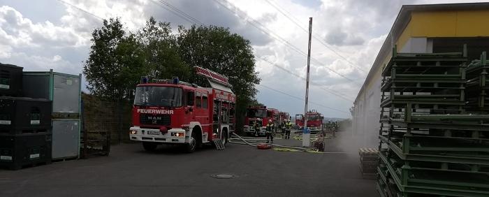Nach der Übung der Freiwilligen Feuerwehr Hamm/Sieg folgte ein Einsatz