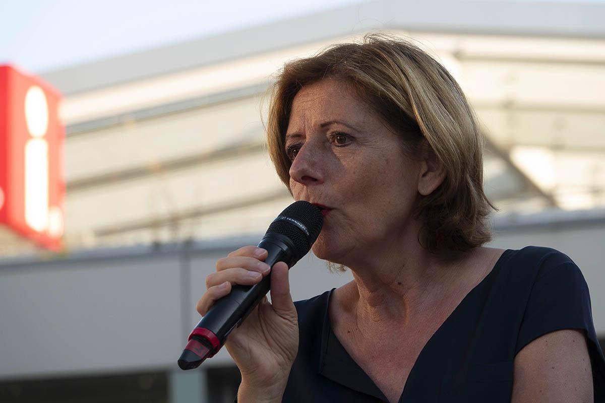 Ministerpräsidentin Malu Dreyer auf Wahlkampftour in Neuwied