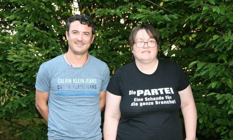 Die neu gewählten Mitglieder im Landesvorstand aus dem Westerwald: Beisitzer Tobias Houy (links) und politische Geschäftsführerin Claudia Boas (rechts). Foto: privat