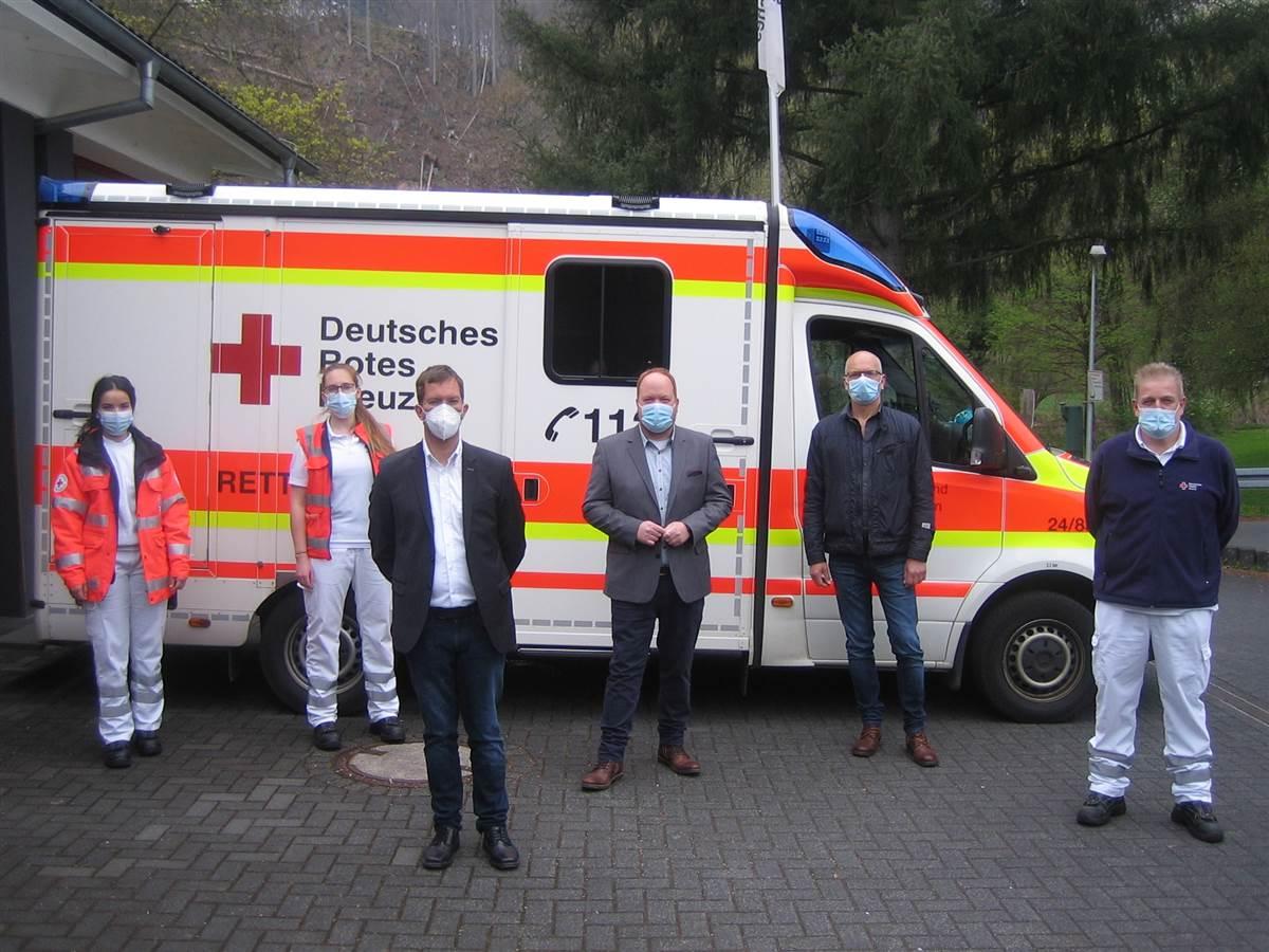 DRK-Rettungsdienst Kirchen und Corona: Weniger Einsätze, aber weitere Fahrstrecken