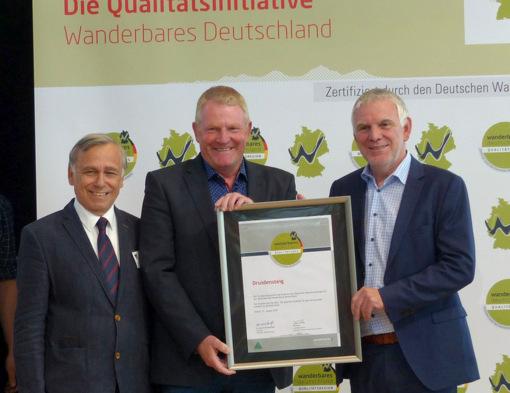 Auszeichnung: Druidensteig zum dritten Mal Qualit�tswanderweg