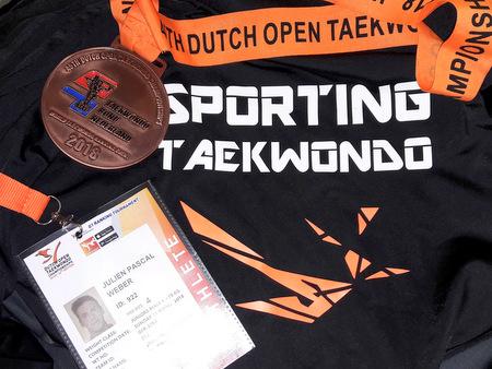 Taekwondo: Julien Pascal Weber holt Bronze bei Dutch Open