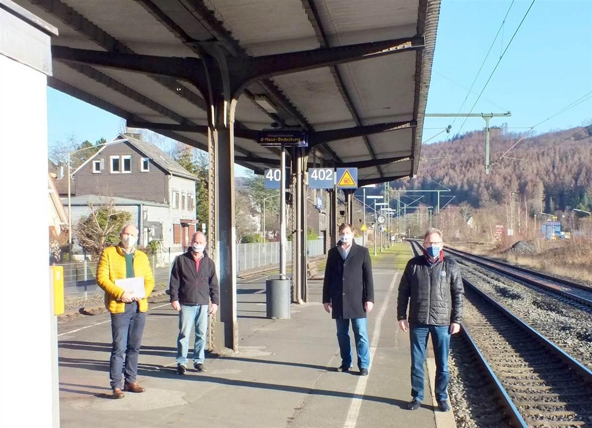 Baubeginn beim DB-Haltepunkt Brachbach im März