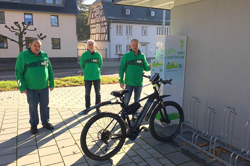 Infrastruktur von E-Bike-Ladestationen im Puderbacher Land