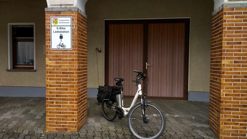 E-Bike Ladestation am Dorfgemeinschaftshaus Giesenhausen