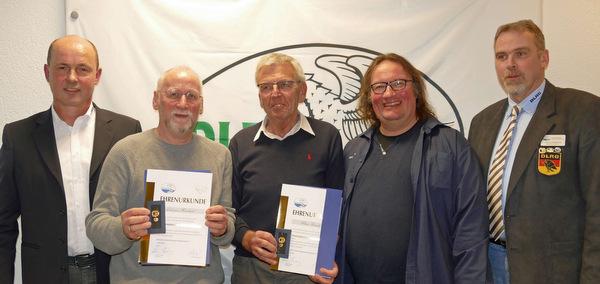 Hohe DLRG-Ehrung für Johannes Hombach und Klaus Frerichs