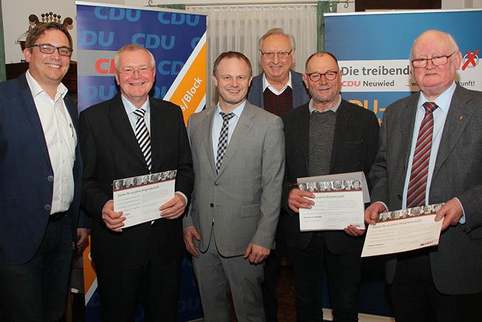 Mitgliederehrung bei der CDU Heimbach-Weis/Block