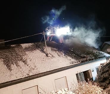Feuerwehreinsatz unter erschwerten Bedingungen in Emmerzhausen