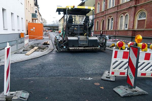 Ausbau Engerser Straße voraussichtlich früher fertig