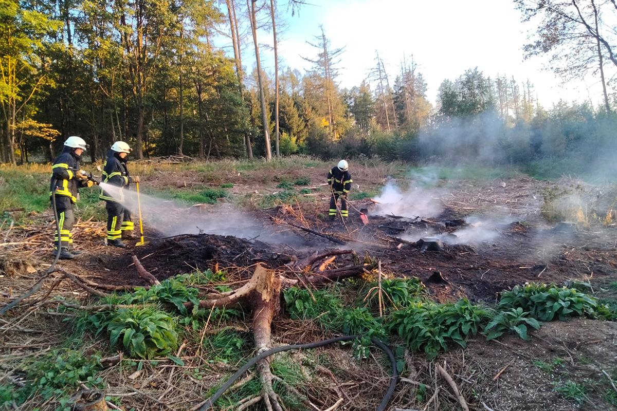 Flächenbrand im Wald bei Oberdreis