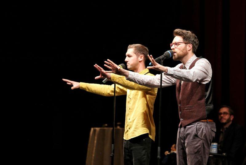 Die Fabelstapler treten auf beim 3. Poetry Slam in Selters. Foto: Veranstalter