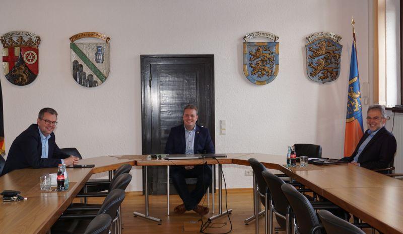 Von links: Bürgermeister Markus Hof (VG Westerburg), Gerrit Müller (VG Rennerod) und Andreas Heidrich (VG Bad Marienberg). Foto: privat