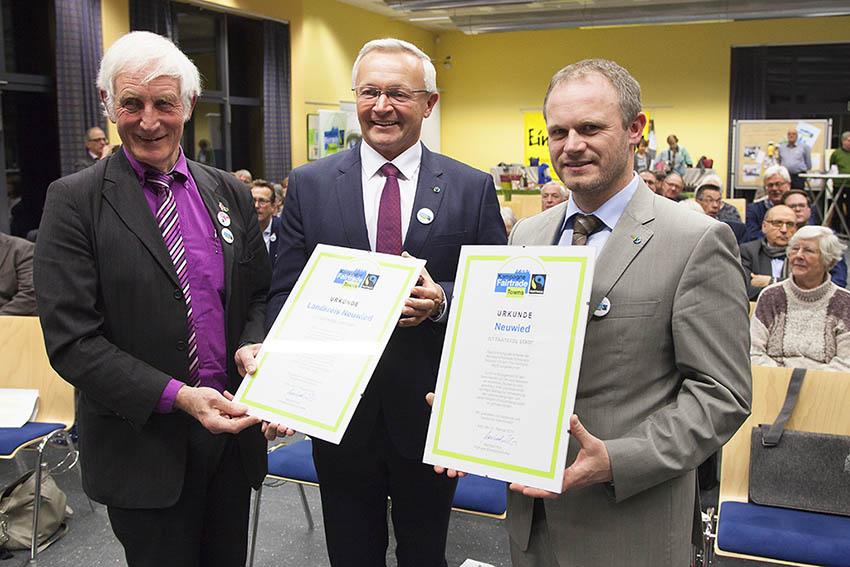 Stadt und Kreis Neuwied erhielten Fairtrade-Auszeichnung