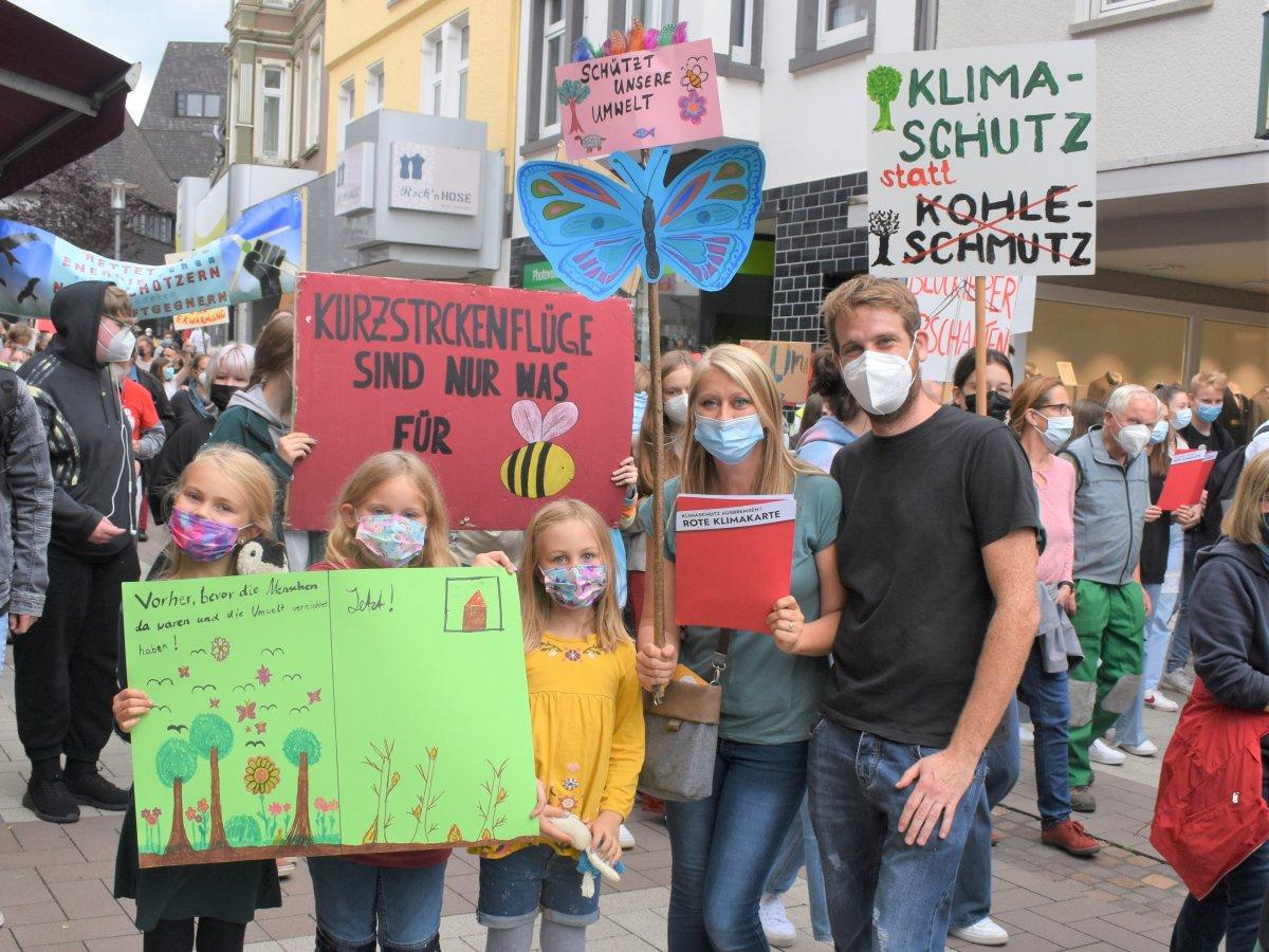 Eindrucksvolle Klima-Demo in Altenkirchen