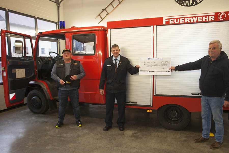 Feuerwehr Oberdreis erhält Spenden