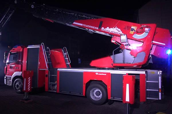 Feuerwehr Bad Marienberg erhält neue Drehleiter