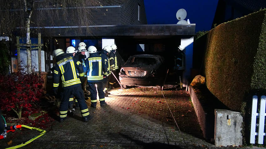 Garagenbrand in Selters