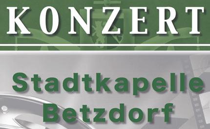 Stadtkapelle Betzdorf l�dt zum Fr�hjahrskonzert
