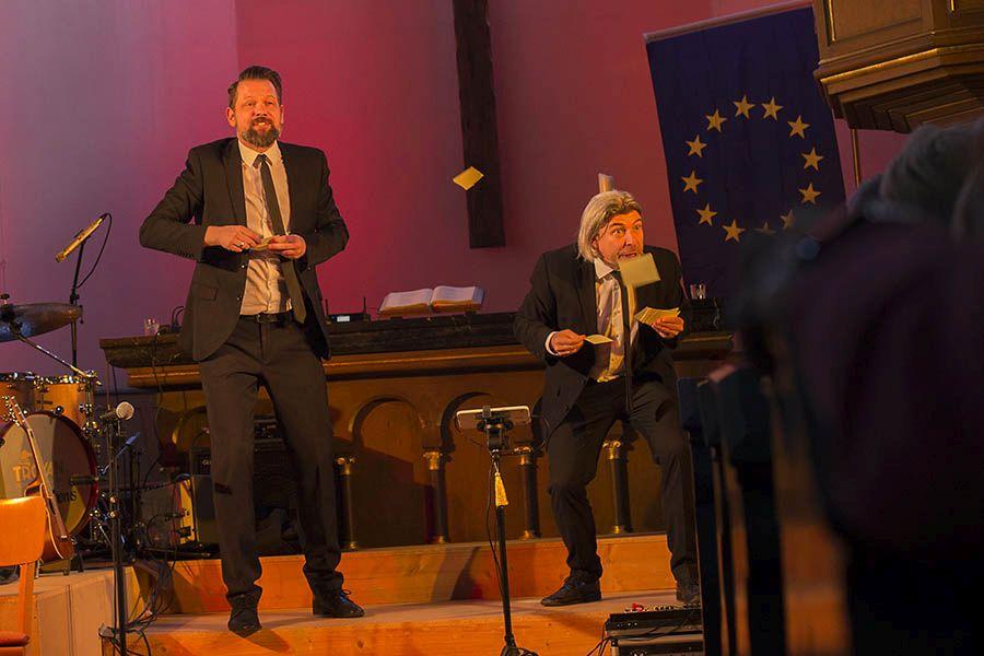 Europa kulturell umgesetzt in der Kirburger Dorfkirche