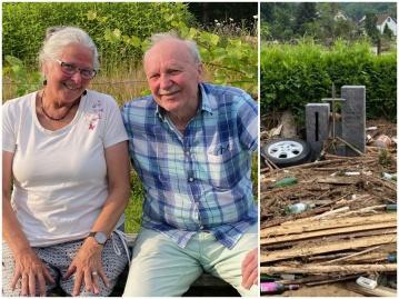 """Michaela und Martin aus Antweiler: """"Klima hat einen langen Atem. Wir leider nur einen sehr kurzen."""" (Fotos: KathaBe/privat)"""