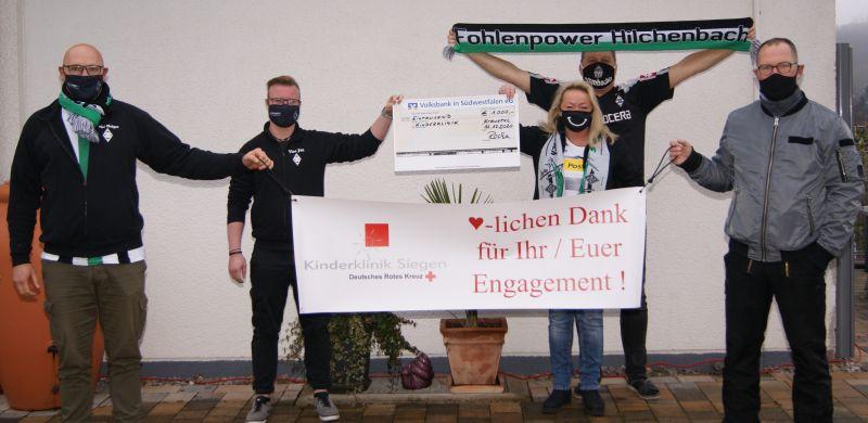 Spendenübergabe an die Siegener Kinderklinik. Foto: privat