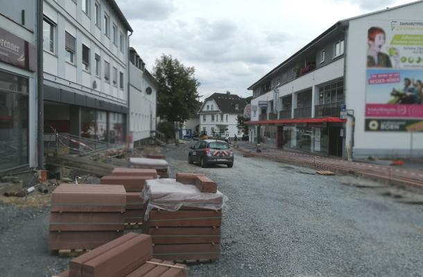 Baustelle Frankfurter Stra�e: Bald ist Schluss