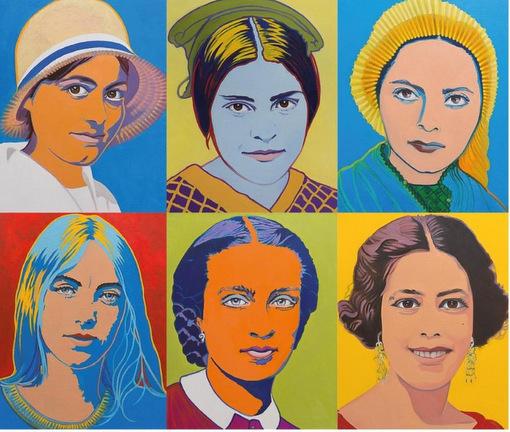 Wie einst die Pop-Art: Sch�ne und heilige Frauen in K�ln