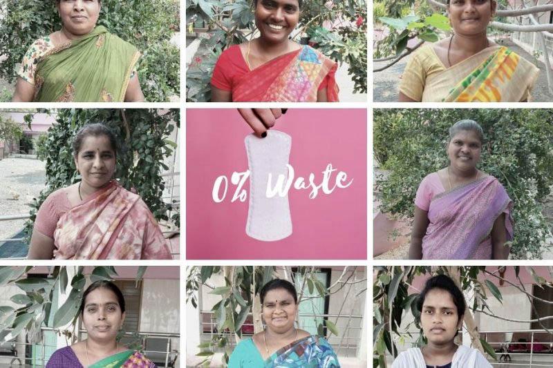 """""""Zero Waste Monatsbinden"""" Kurzkurs für indische Frauen in Armut"""