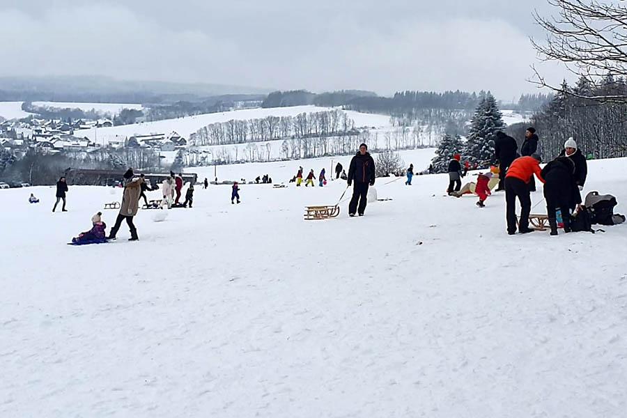 Winter nur in den Höhenlagen des Westerwaldes