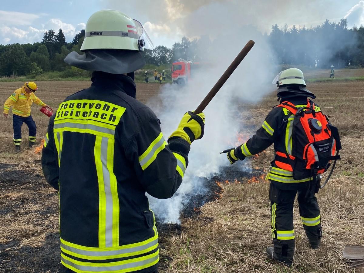 Waldbrand-Bekämpfung: Feuerwehren der VG Betzdorf-Gebhardshain übten gemeinsam