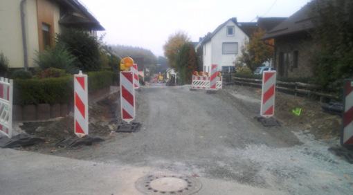 Die Ortsgemeinde Caan berichtet per Pressemitteilung über den Fortgang der Arbeiten in der Gartenstraße. (Foto: Ortsgemeinde Caan)