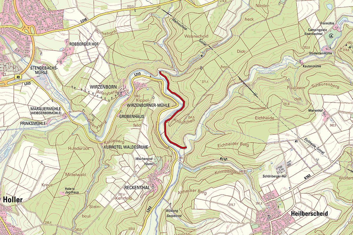 Rad- und Wanderweg im Gelbachtal gesperrt ab 21. Juni