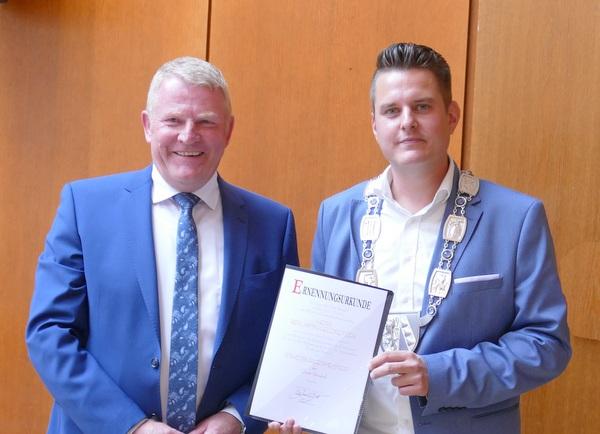 Neuer Stadtbürgermeister im Amt: Benjamin Geldsetzer folgt auf Bernd Brato