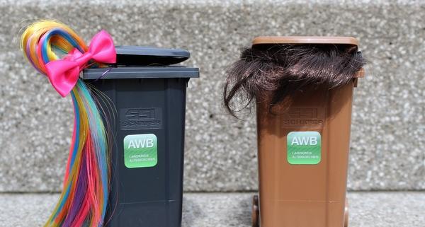 Wie man welche Haare ordnungsgemäß entsorgt, darüber informiert der Abfallwirtschaftsbetrieb. (Foto: AWB)