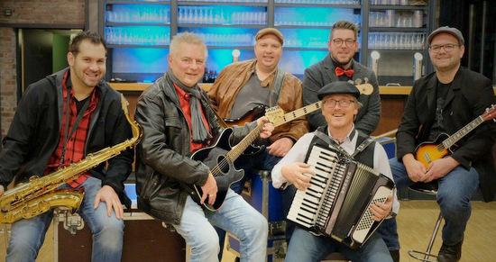 """Am 3. März beim """"Närrischen Ohrwurm 2019"""": Die Musiker von Hännes. (Foto: privat)"""