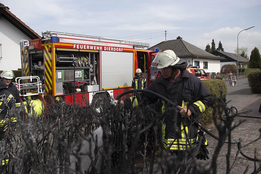 Heckenbrand in Dierdorf