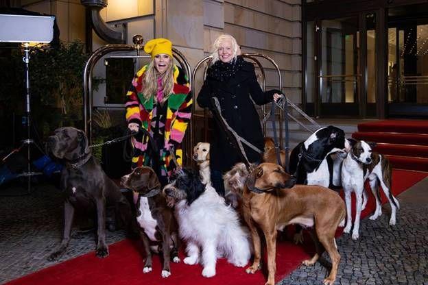 Heidi Klums Models standen auf wackeligen Rollen