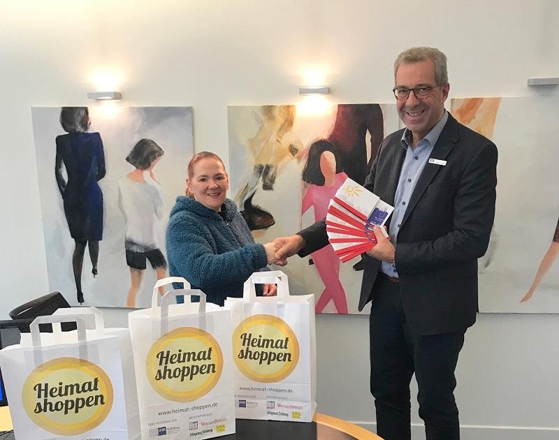 �Heimat Shoppen� in Wissen: Treffpunkt verloste Einkaufsgutscheine