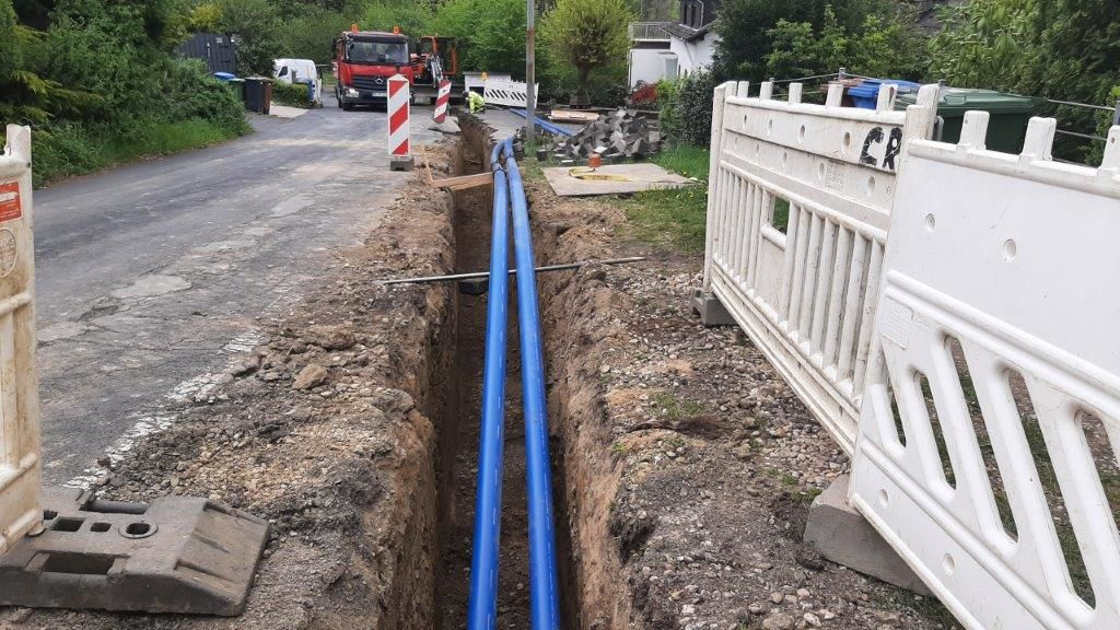 KWW: Erneuerung der Wasserleitung in Hesseln vor dem Abschluss