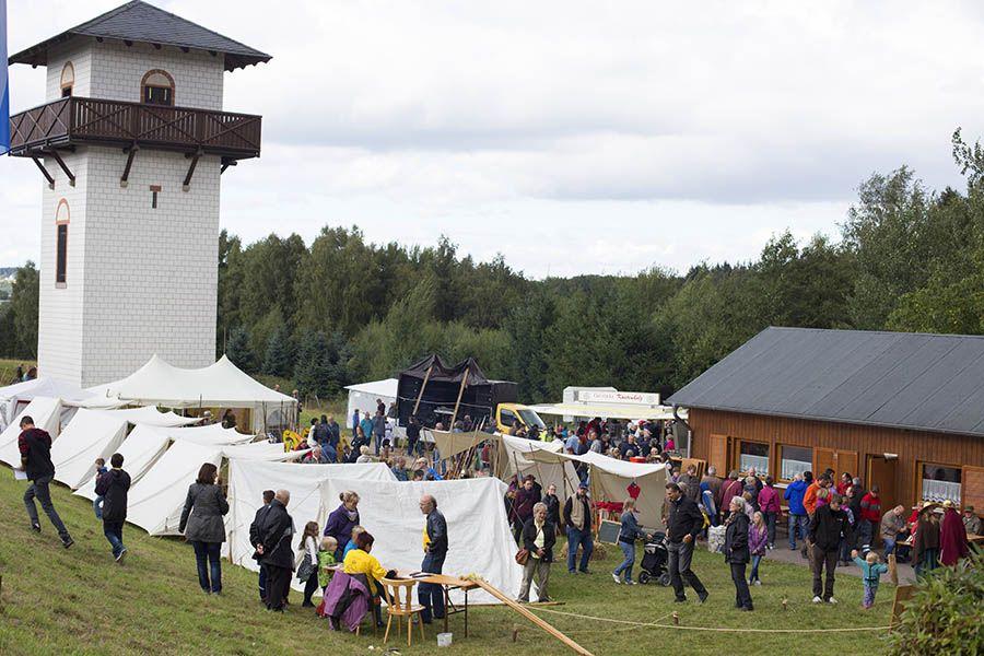 Römerlager am Limesturm Hillscheid. Foto: Helmi Tischler-Venter