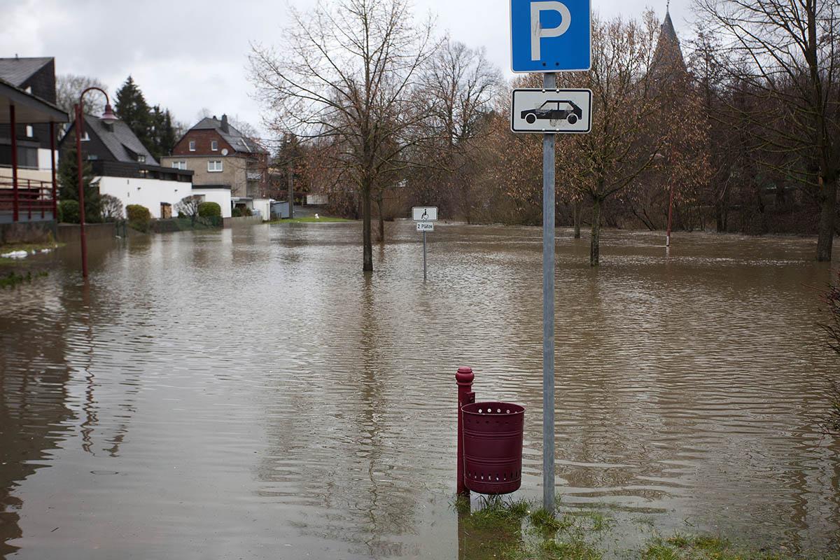 Tauwetter, Regen und Hochwassergefahr im Westerwald
