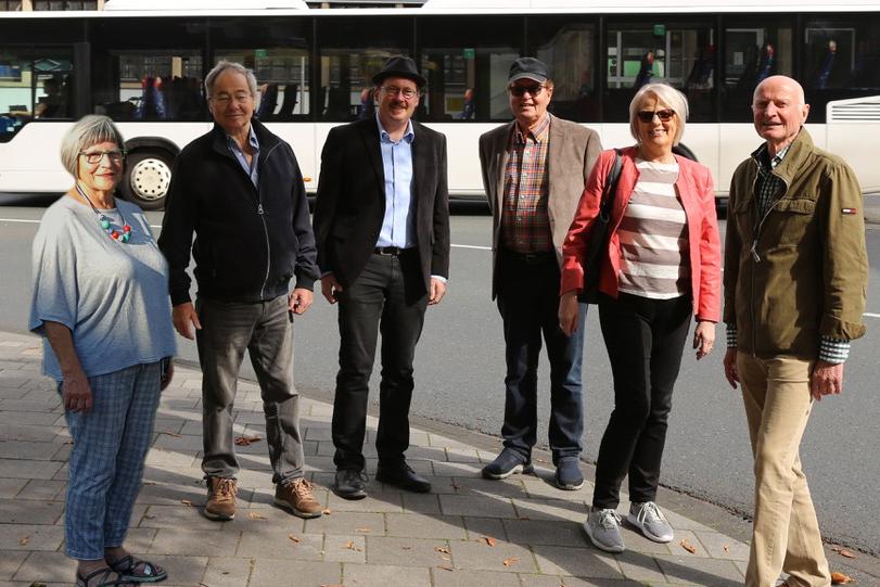 Von links: Waltraud Becker, Achim Prangenberg, Patrick Simmer, Hermann Mohr, Marlies Mohr, Rolf Alterauge. Foto: privat